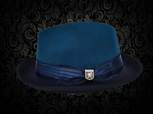 STACY ADAMS TURQUOISE BLUE WOOL HAT
