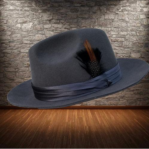 Gangster Black Wool hat