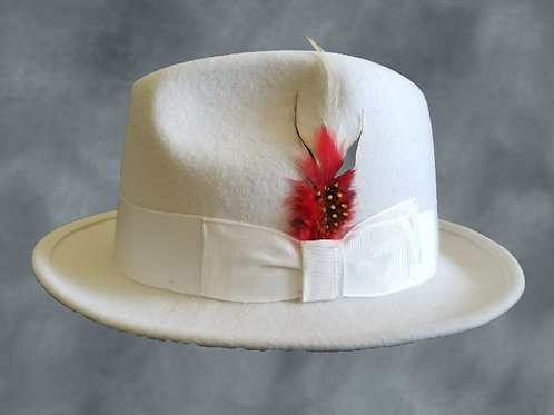 Creamy White 100% Wool Hat
