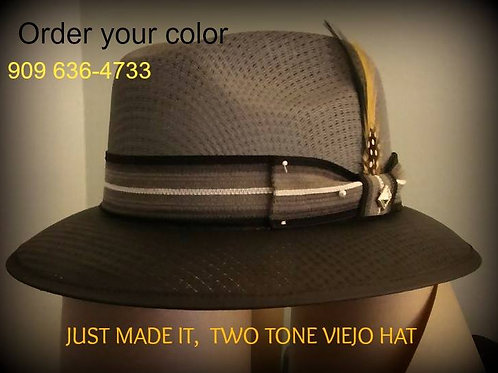 Custom Two Tone Gray/Black Viejo Garcia Hat