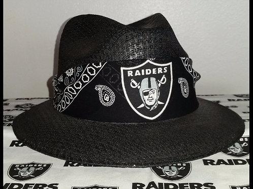 Oakland Raider Black Viejo Bandana Hat