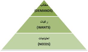 ما بين الحاجات والرغبات