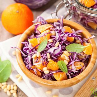 Rotkohlsalat mit Mandarinen