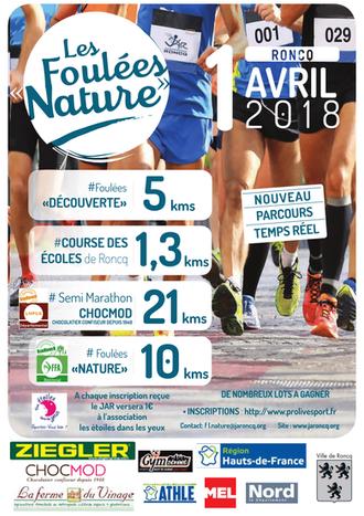 Les Foulées Nature - Dim 01 avril 2018