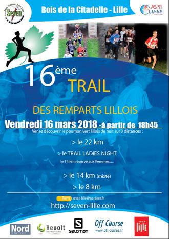 Trail des Remparts Lillois - Ven 16 mars 2018