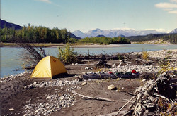 Twitya River camp
