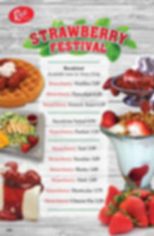 Strawberry Festival Menu 11x17 Poster 03