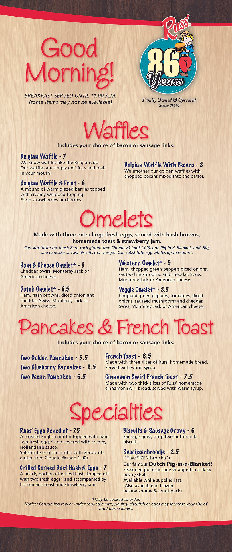 Russ Breakfast Menu 0620 - FINAL - 86 Ye