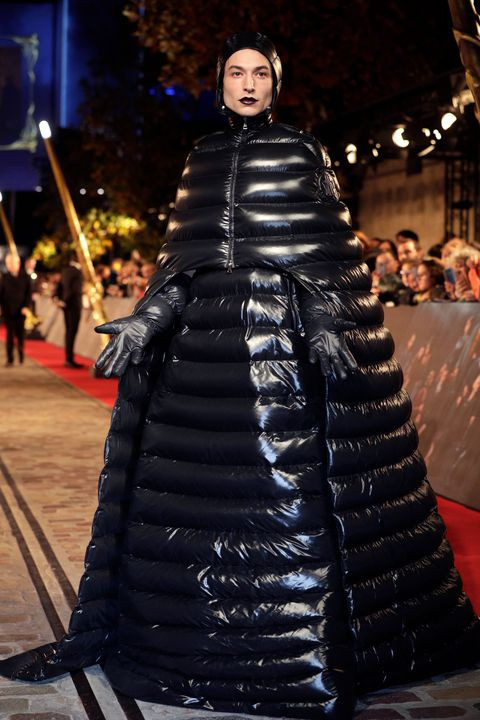 Ezra Miller wearing Moncler
