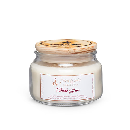 Dark Spice Scented Soy Wax Candle