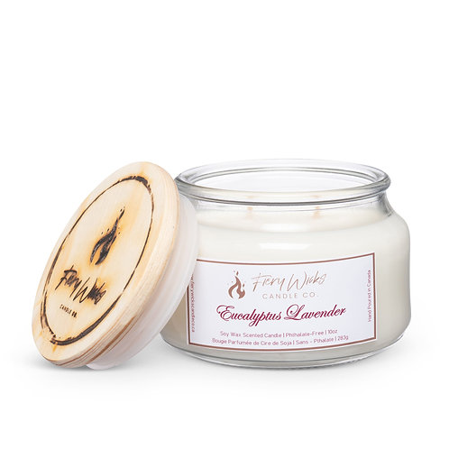 Eucalyptus Lavender Scented Soy Wax Candle
