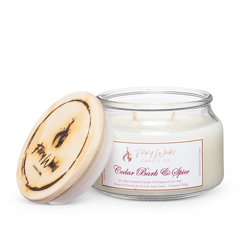 Cedar Bark & Spice Scented Soy Wax Candle