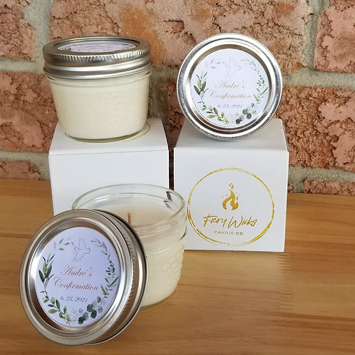 Personalized Candle Party Favours