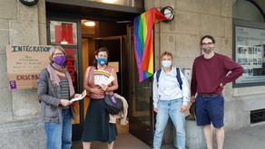 31 mai : Action de soutiens d'une motion visant à lutter contre le harcèlement sexiste et sexuel