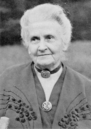 maria montessori svartvit bild