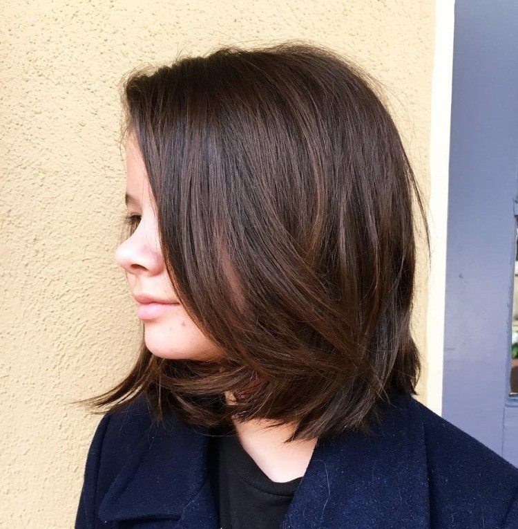 Cute One-Length Bob with Curled Ends