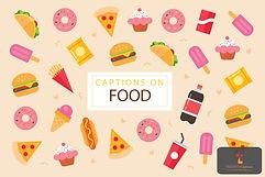 Captions on Food