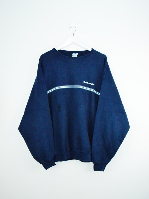 Sweat Reebok Bleu Marine Oversize - XL