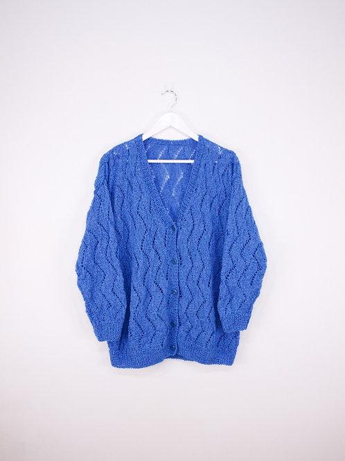 Cardigan Crochet Vintage Bleu - M/L