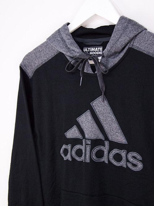 Hoodie Adidas Gros Logo Noir & Gris - M