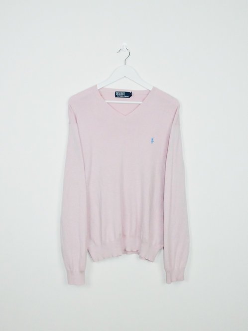 Pull Ralph Lauren Oversize Rose Pâle - XL