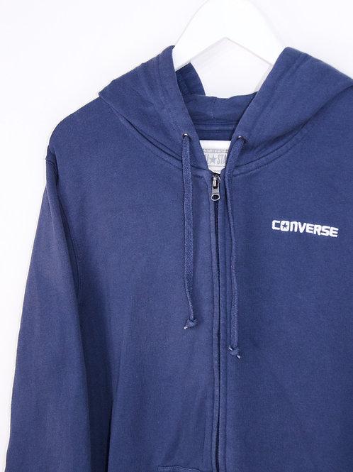 Hoodie Converse Zippé Bleu Marine - M