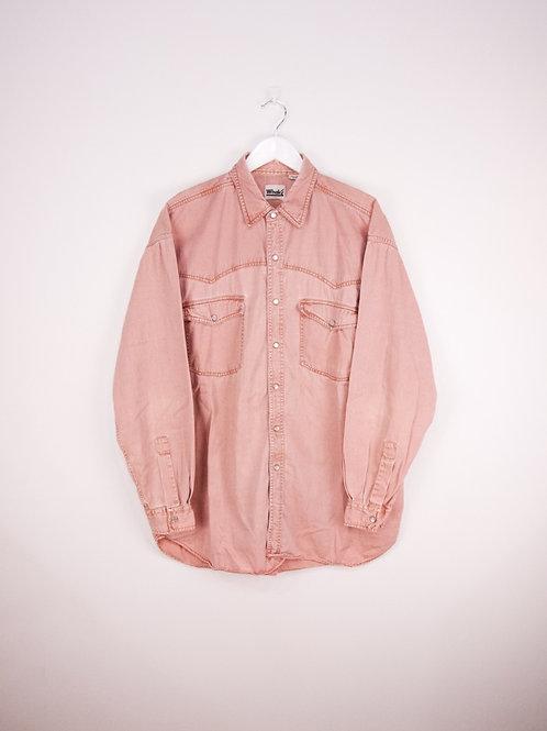 Chemise en Jean Vintage Rose Pastel - XL
