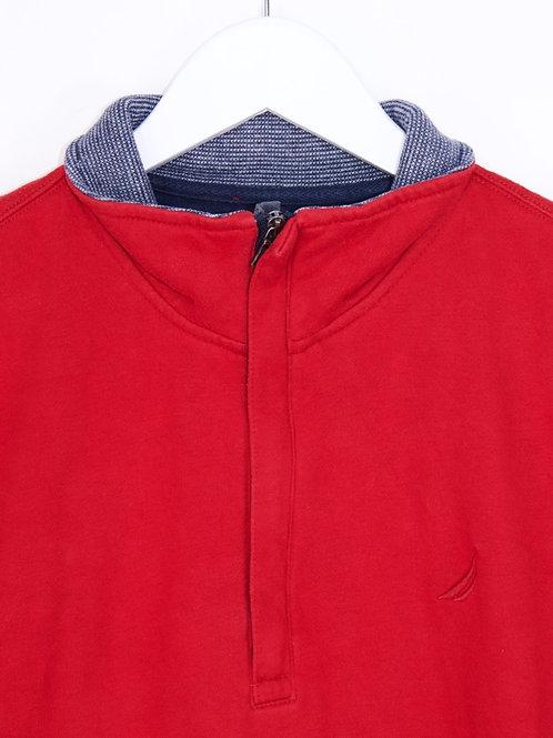 Sweat Nautica Vintage 1/4 Zip Rouge - M
