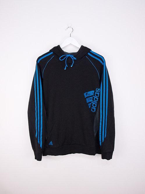 Hoodie Adidas Noir & Bleu - L