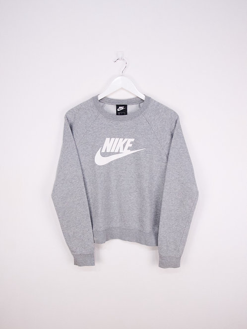 Sweat Nike Col Rond Gris Clair - S