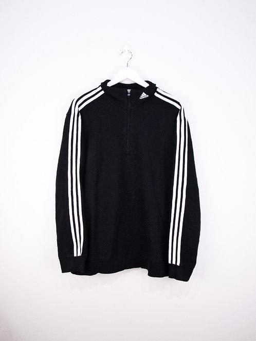 Sweat Adidas 90's Noir à Zip 1/4 Logo Sur Le Col - L