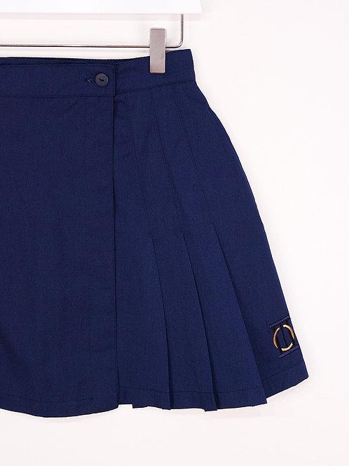 Jupe de Tennis Vintage Bleue Marine à Poches - S