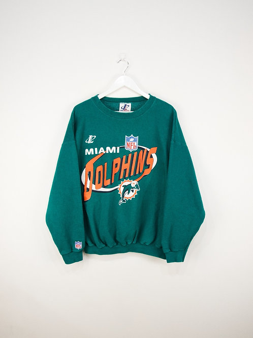 Sweat Logo Athletic NFL Miami Dolphins Vintage - L