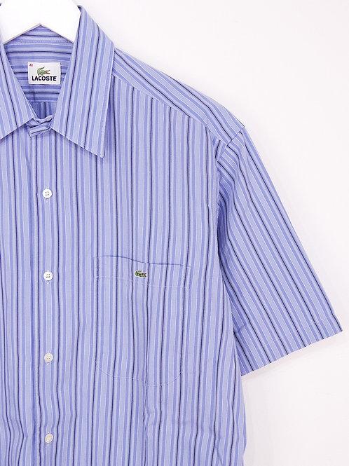 Chemise Lacoste Vintage Bleue à Rayures - M/L