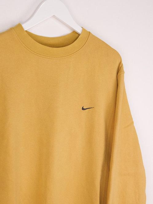 Sweat Nike Vintage 90's Jaune Moutarde - L