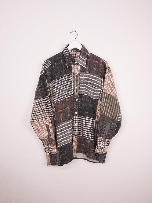 Chemise Flanelle Vintage à Motifs - M