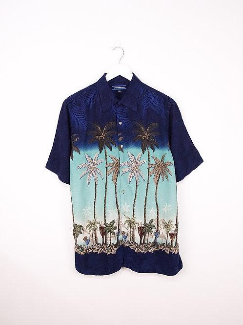 Chemise Hawaïenne Vintage à Motifs Palmiers - M