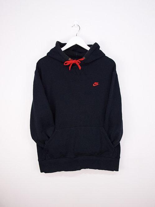 Hoodie Nike Vintage Noir Logo Rouge - XL