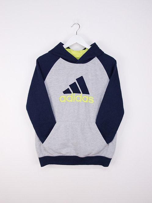 Hoodie Adidas Gros Logo Gris & Bleu Marine - S/M