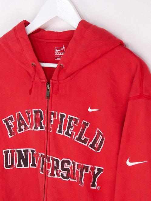 Hoodie Nike Zippé Fairfield Univesity - L