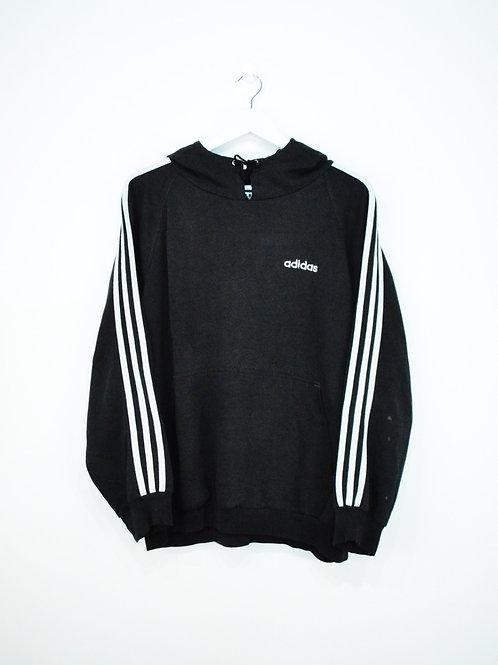 Hoodie Adidas Noir 3 Stripes - L