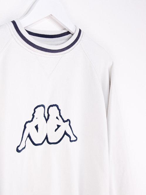 Sweat Kappa 90's Blanc - S