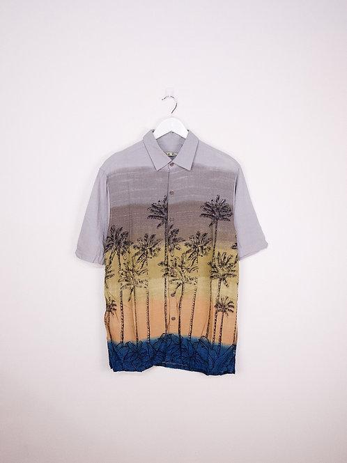 Chemise Hawaïenne Vintage à Motifs Palm Trees - L