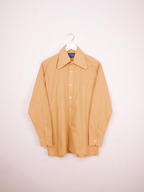Chemise Vintage à Col Large 70's Camel - M/L