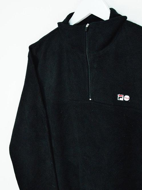 Polaire Fila 90's Noire 1/4 Zip - L