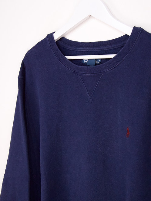 Sweat Ralph Lauren Vintage Oversize Bleu Marine - XL