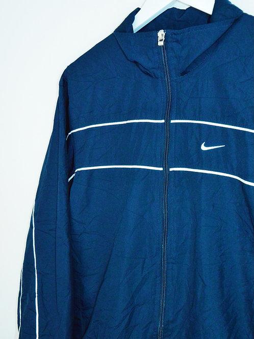 Veste Nike 90's Bleue Marine Swoosh Dans Le Dos - S