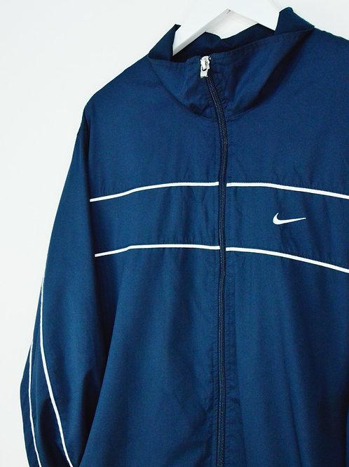 Veste Nike 90's Bleue Marine Swoosh Dans Le Dos - L