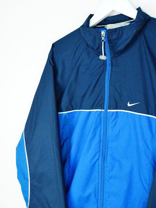 Veste Nike 90's Bleue Nike Spellout Dans Le Dos - S/M