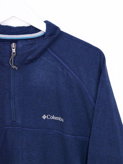 Pull Columbia Oversize 1/4 Zip Bleu Marine - 2XL